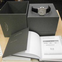 A. Lange & Söhne Lange 1 pre-owned 41mm Silver Date GMT Crocodile skin