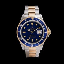 Rolex Submariner Date pre-owned 40mm Blue Gold/Steel