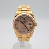 Rolex Rose gold Automatic Pink Roman numerals 36mm pre-owned Day-Date 36