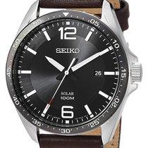 Seiko Solar Acier 43mm Noir