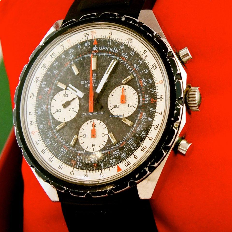 Breitling 0818 & 1809 Spiegelei 1970 gebraucht