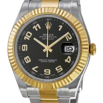 Rolex Datejust II Black Dial Steel and 18k Yellow Gold 116333