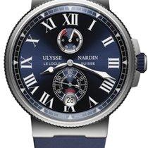 Ulysse Nardin Marine Chronometer Manufacture 1183-122-3 / 43 Ulysse Nardin Cronometro Marino Blu Gomma новые