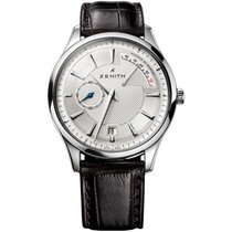 Zenith Captain Power Reserve Steel 40mm Silver United States of America, Pennsylvania, Holland