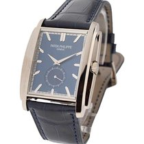 Patek Philippe 5124G-011 5124 Gondolo in White Gold - on Blue...