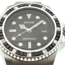 Rolex Deep Sea Black Dia  Baguette Lünette Pave Dial PIECE UNIQUE