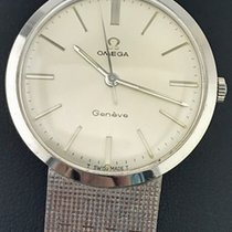 Omega White gold Automatic Silver No numerals 34mm pre-owned Genève