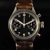 Breguet Chronographe 38mm Remontage manuel 1954 occasion Type XX - XXI - XXII Noir