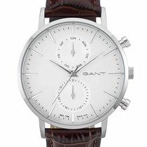 Gant 钢 44mm 石英 W11201 全新