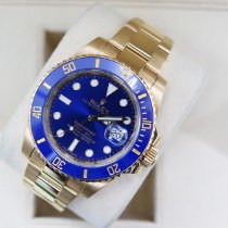 Rolex Submariner Date Yellow gold 40mm Blue No numerals United Kingdom, London
