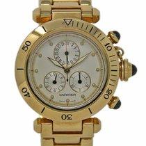 Cartier Pasha new 1994 Quartz Chronograph Watch with original box and original papers 1353/1