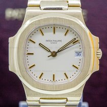 Patek Philippe Yellow gold Automatic Champagne 37mm pre-owned Nautilus