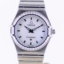 Omega Constellation Quartz Steel 22.5mm Mother of pearl No numerals