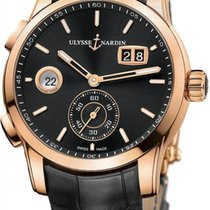 Ulysse Nardin Dual Time 3346-126/92 // 3346-126-5/92 New Rose gold 42mm Automatic