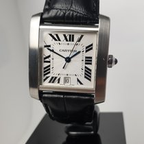 Cartier 2302 Steel 2000 Tank Française 28mm pre-owned