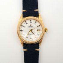 Rolex Yellow gold Automatic White Roman numerals 34mm pre-owned Oyster Perpetual Date