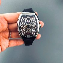 Franck Muller White gold Automatic Transparent No numerals 41mm new Vanguard