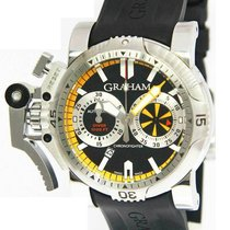 Graham Chronofighter Oversize pre-owned 47mm Black Rubber