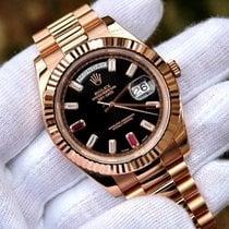 Rolex Day-Date II Rose gold 41mm Black Roman numerals