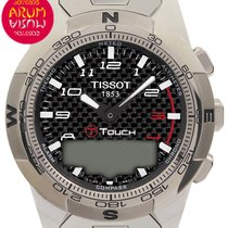 Tissot 43mm Cuarzo 2014 usados T-Touch II Negro