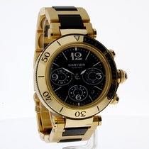 Cartier Pasha Seatimer Yellow gold, Black Dial