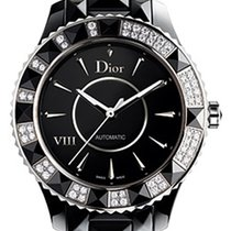 Dior Ceramic Automatic Black No numerals 38mm pre-owned VIII