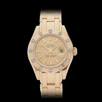 Rolex Pearlmaster 18k Yellow Gold Ladies 69318 - W4207
