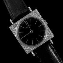 Angelus 1950's Vintage Mens Tuxedo Style Watch - 14K White...