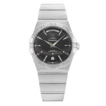 Omega Constellation Day-Date Steel 38mm Black Roman numerals United States of America, New York, New York