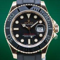 Rolex 116655 Yacht Master 18K Rose Gold / Rubber UNWORN (29222)
