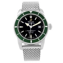 Breitling Superocean Heritage 42 Green Bezel Mens Watch A17321