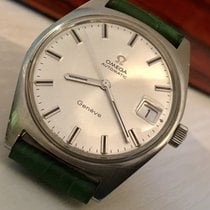 Omega Geneve 1970s mens vintage Automatic steel watch + Box