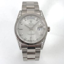 Rolex Chronometer 36mm Automatic 2001 pre-owned Day-Date (Submodel) Silver