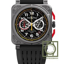 Bell & Ross Titanium Automatic Black Arabic numerals 42mm new BR 03-94 Chronographe