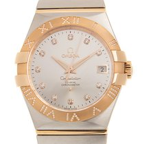 Omega Rose gold Automatic Silver 35mm new Constellation Ladies