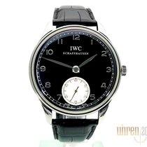 IWC Portuguese Hand-Wound Otel 44mm Negru Arabic