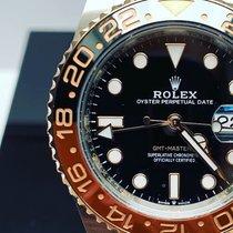Rolex GMT-Master II Or/Acier 40mm Noir Sans chiffres Belgique, 6540