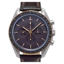 歐米茄 Speedmaster Professional Moonwatch 鈦 42mm 棕色 無數字