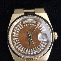 Rolex Day-Date Oysterquartz usados 36mm Marrón Fecha Día de la semana Oro amarillo