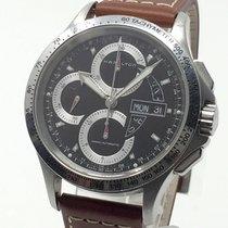 Hamilton Khaki Field King occasion 42mm Chronographe Date Affichage des jours Cuir