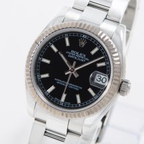 Rolex Lady-Datejust Сталь 31mm Чёрный