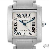 Cartier gebraucht Automatik 32mm Silber Saphirglas