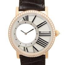 Cartier Rotonde De Cartier 18 K Rose Gold With Diamonds Silver...