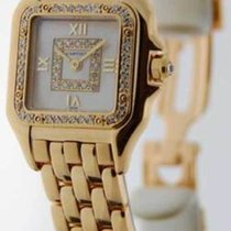 Cartier Ladies Panthere 18K Gold Diamond Quartz Mother of...