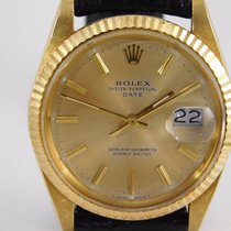 Rolex Oyster Perpetual Date 18kt gold full set