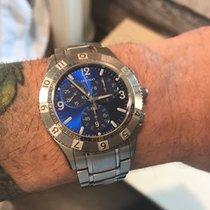Movado 84 F9 1890 MOVADO GENTRY CHRONOGRAPH MENS Blue Quartz...