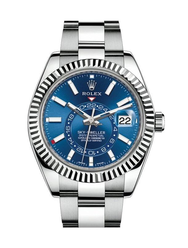 Rolex Sky,Dweller Stainless Steel Blue Dial