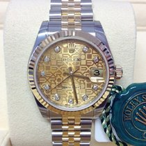 Rolex Lady-Datejust Gold/Steel 31mm Champagne No numerals
