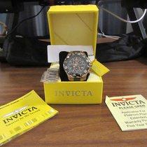 Invicta Men's 1221 Invicta II Chronograph Black Dial 18k Rose...