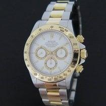 Rolex Daytona Gold/Steel White Dial 16523